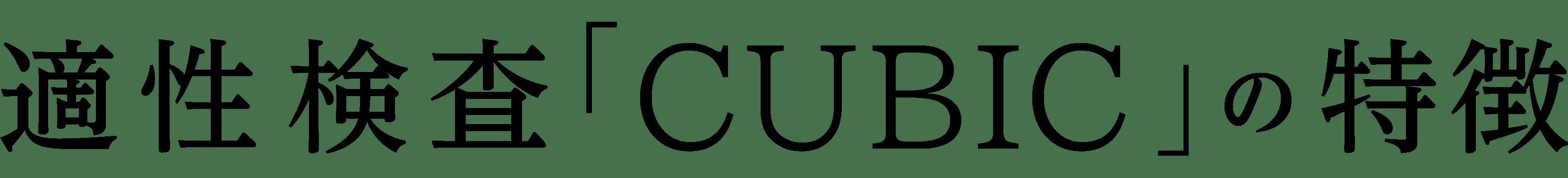 適性検査「CUBIC」の特徴